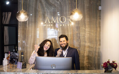 Simcha and Zalman Minkowitz hope to reopen their store, Amore Fine Jewelry, soon. (Mushka Krinsky)
