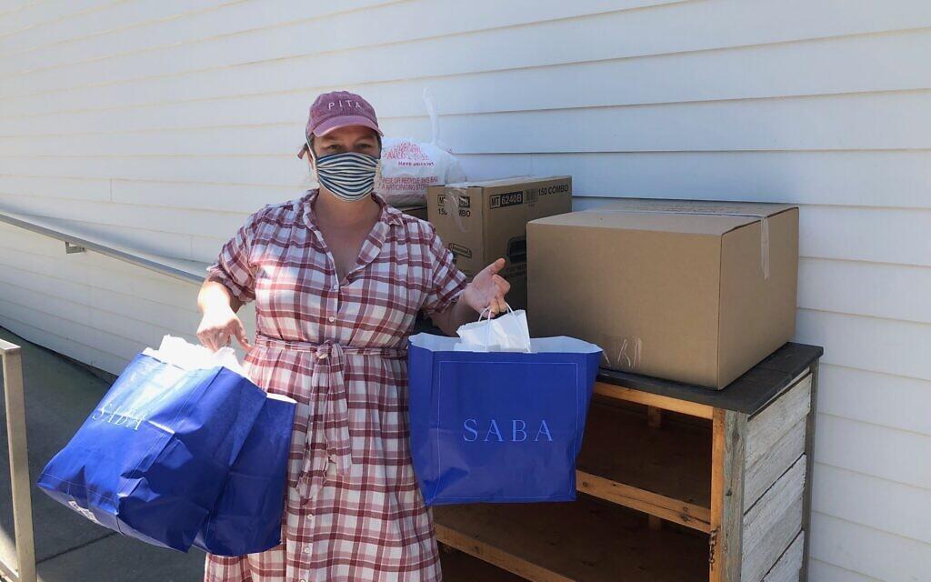 Emily Shaya outside Saba restaurant in New Orleans. (Courtesy Pomegranate Hospitality)