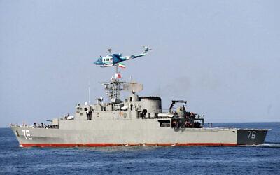 Iran's Jamaran frigate (Wikimedia commons)
