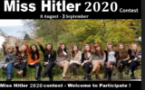 An advertisement for the 'Miss Hitler 2020' competition (Courtesy/Anti-Defamation Commission)