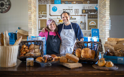 Devorah and David Katz of Pat Bamelach, the Efrat-based artisanal bakery that shares its sourdough recipes and starter, particularly during corona times. (courtesy, Pat Bamelach)