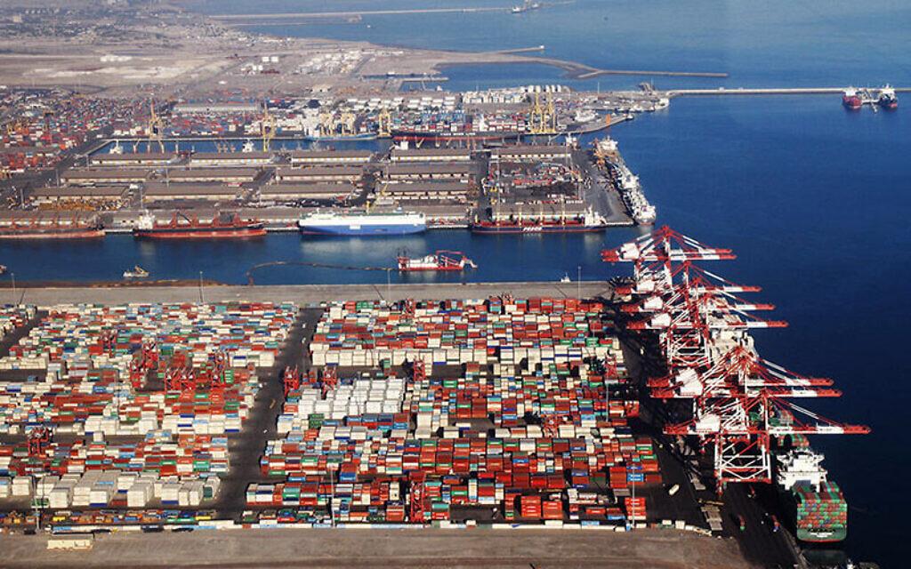 The Shahid Rajaee port facility near the Iranian coastal city of Bandar Abbas. (Iran Ports and Maritime Organization)