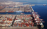 The Shahid Rajaee port facility near the Iranian coastal city of Bandar Abbas. (Iran Ports and Maritime Organization)