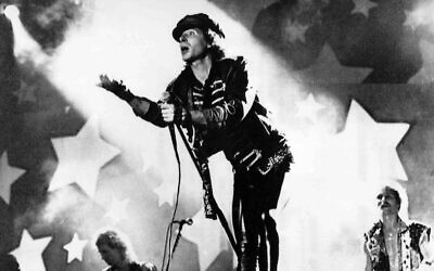 Klaus Meine, frontman of the German metal band Scorpions, performs during the Peace Rock Festival attended by 250,000 on August 13, 1989, at the Lenin Stadium in Moscow, Soviet Union. (AP)