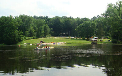 Illustrative: Eisner Camp in Massachusetts is among 15 Reform movement overnight camps that will not open this summer. (Wikimedia Commons via JTA)