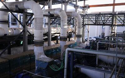 View of the Sorek A Desalination Plant, November 22, 2018. (Isaac Harari/Flash90)