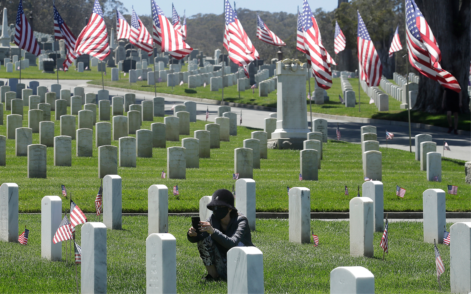 San Francisco National Cemetery the day before Memorial Day in San Francisco, California, May 24, 2020. (AP/Jeff Chiu)