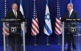 US Secretary of State Mike Pompeo, left, with Prime Minister Benjamin Netanyahu at his Jerusalem residence, May 13, 2020 (Kobi Gideon/PMO)