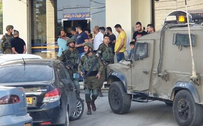 The scene of an attempted terror attack near the Hawara Junction in the northern West Bank on May 20, 2020. (Samaria Regional Council)