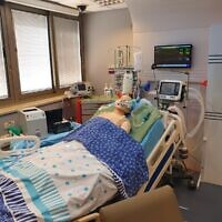 "One of Sheba's innovation projects: the ""hospital room of the future,"" built in the Israel Center for Medical Simulation at Sheba Medical Center (courtesy of Sheba Medical Center)"