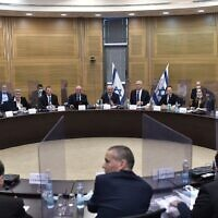 Ministers meet in the Knesset on May 28, 2020. (Koby Gideon/GPO)