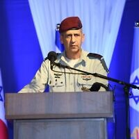 IDF Chief of Staff Aviv Kohavi speaks at a Home Front Command ceremony on May 19, 2020. (Israel Defense Forces)