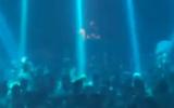 A party is held at Ha'Oman 17 nightclub in Tel Aviv, in violation of social distancing guidelines, May 2020 (video screenshot)