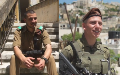 Twin brothers Fares (left) and Firas Muhammad, Muslim Arabs serving in the IDF's Golani Brigade (Channel 12 screenshot)