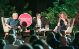 An event at the 2019 Jerusalem Writers Festival at Mishkenot Sha'ananim, which was held in person, unlike the 2020 edition, which will be online, May 10-13, 2020 due to the coronavirus (Courtesy Writers Festival)