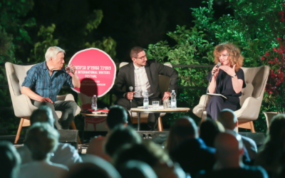 An event at the 2019 Jerusalem Writers Festival at Mishkenot Sha'ananim, which was held in person, unlike the 2020 edition, which was online due to the coronavirus pandemic (Courtesy Writers Festival)