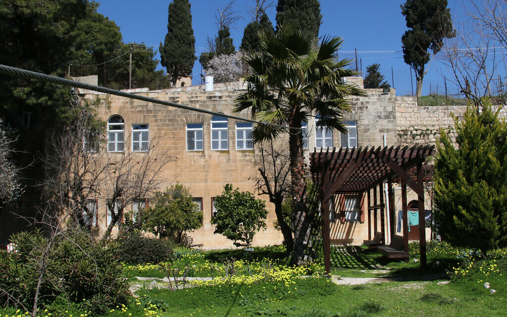 The Gobat School in Jerusalem, which the secret cable car connected to today's Mount Zion Hotel. (Shmuel Bar-Am)