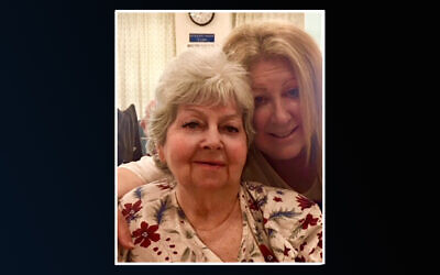 Elayne Boosler, right, says her cousin Dorothea Buschell was wrongfully buried in a Catholic cemetery. (Boosler via Facebook, JTA)