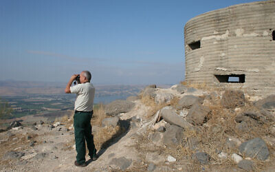 The Mevo Hama vantage point is located inside the Mevo Hama forest and built around the Ein Aduk spring. (Shmuel Bar-Am)