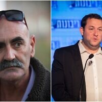 Yesha Council chairman David Elhayani (L) and Samaria Regional Council chairman Yossi Dagan. (Flash90)
