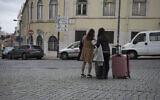 Two Israeli women arrive in Lisbon, Portugal, Feb. 15, 2016. (Cnaan Liphshiz via JTA)