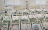 Surrogate babies stranded at a Kyiv hotel owned by the BioTexCom clinic (YouTube screenshot)
