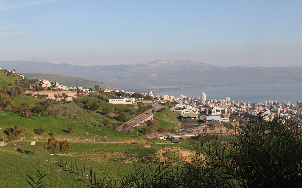 A view of Tiberias from the Swiss forest, which was planted above the city to stem rain runoff. (Shmuel Bar-Am)