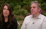 Screen capture from video of an interview with two of the first people in New York to become infected with the coronavirus, Lawrence Garbuz, right, and his wife Adina. (YouTube)