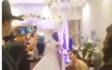 Guests at a Jewish wedding in Buenos Aires, May 25, violated coronavirus restrictions, leading to arrests (Screen capture: Twitter)