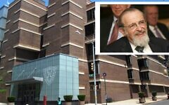 Rabbi Norman Lamm, inset, helped rebuild Yeshiva University into the flagship of Modern Orthodoxy during his nearly three decades as its chancellor. (Lamm photo: Yeshiva University; library photo: Wikimedia Commons)