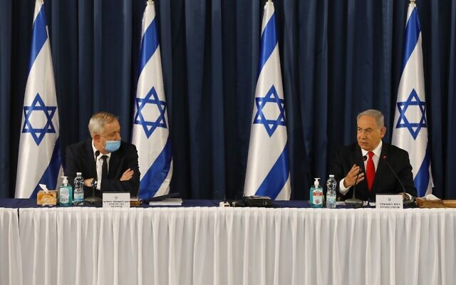 Likud, Blue and White scotch cabinet meeting, trade barbs as impasse deepens