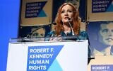 Author JK Rowling accepts an award onstage during the Robert F. Kennedy Human Rights Hosts 2019 Ripple Of Hope Gala  and Auction In NYC, in New York City, on December 12, 2019. (Bennett Raglin / GETTY IMAGES NORTH AMERICA / AFP)
