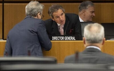 Rafael Grossi, director general of the International Atomic Energy Agency, at a meeting of the Board of Governors of the IAEA at the agency's headquarters in Vienna, Austria, June 15, 2020. (Joe Klamar/ AFP)