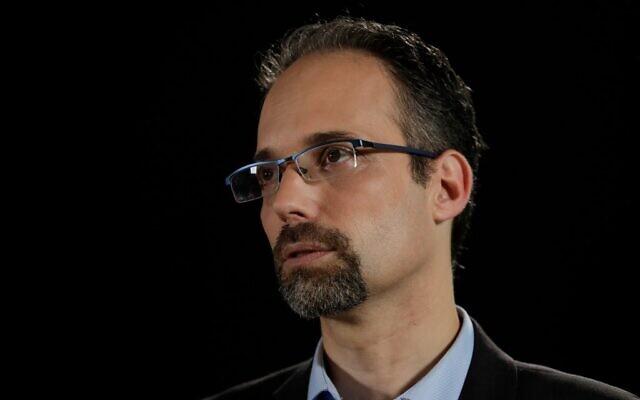 Professor Ran Balicer, head of innovation at Clalit, Israel's biggest health services provider, in Tel Aviv on June 10, 2020 (EMMANUEL DUNAND / AFP)