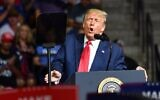 US President Donald Trump speaks during a campaign rally at the BOK Center on June 20, 2020 in Tulsa, Oklahoma. (Nicholas Kamm / AFP)