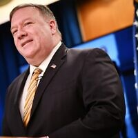 US Secretary of State Mike Pompeo speaks during a press conference at the State Department in Washington on June 24, 2020. (Mandel Ngan/Pool/AFP)