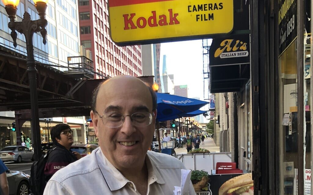 Don Flesch, the owner of Central Camera in Chicago, vowed to rebuild after looters destroyed his store. (Courtesy/ via JTA)