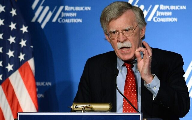 John Bolton speaks at the Republican Jewish Coalition spring leadership meeting in Las Vegas, March 29, 2014. (Ethan Miller/Getty Images)