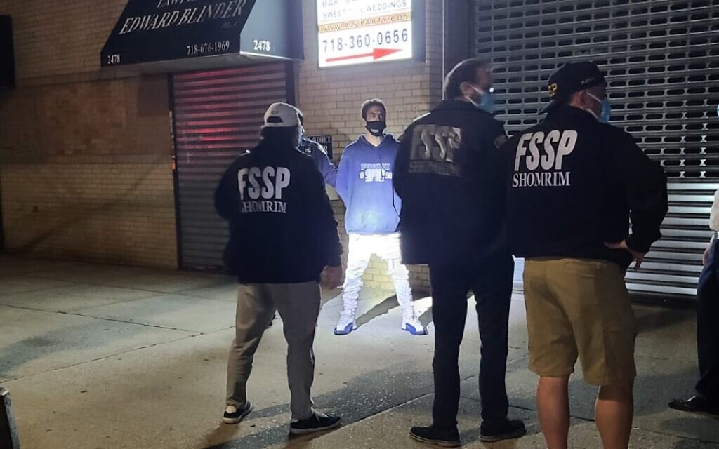 Members of the Shomrim Safety Patrol in Brooklyn. (Courtesy)
