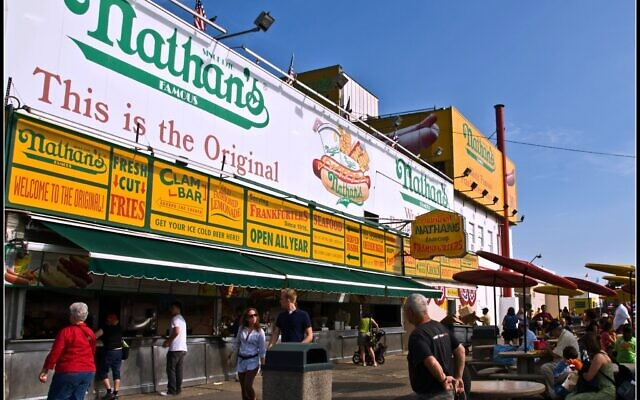 The original 1916 Nathan's Famous location on Coney Island, September 4, 2009. (Flickr/ CC-BY-2.0/ Tony Fischer)