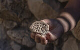 Seal made out of a piece of clay from the Persian Period discovered in the City of David Givati Parking Lot excavations. (Shai Halevy, Israel Antiquities Authority)