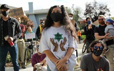 Satya Zamudio, 15, urged Oakland's school board to eliminate its police force. (Rucha Chitnis/ via JTA)