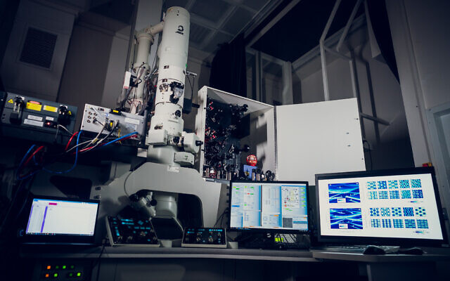 The new quantum microscope at the Technion - Israel Institute of Technology. (Nitzan Zohar, Technion spokesperson's office)