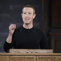 In this Oct. 17, 2019, file photo, Facebook CEO Mark Zuckerberg speaks at Georgetown University in Washington. Zuckerberg isn't budging over his refusal to take action on inflammatory posts by President Donald Trump that spread misinformation about voting by mail and, many said, encouraged violence against protesters. (AP Photo/Nick Wass, File)