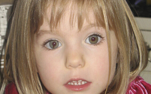 This undated file photo shows Madeleine McCann. British police said on Wednesday June 3, 2020, a German man has been identified as a suspect in the case of a 3-year-old British girl who disappeared 13 years ago while on a family holiday in Portugal. (AP Photo/File)