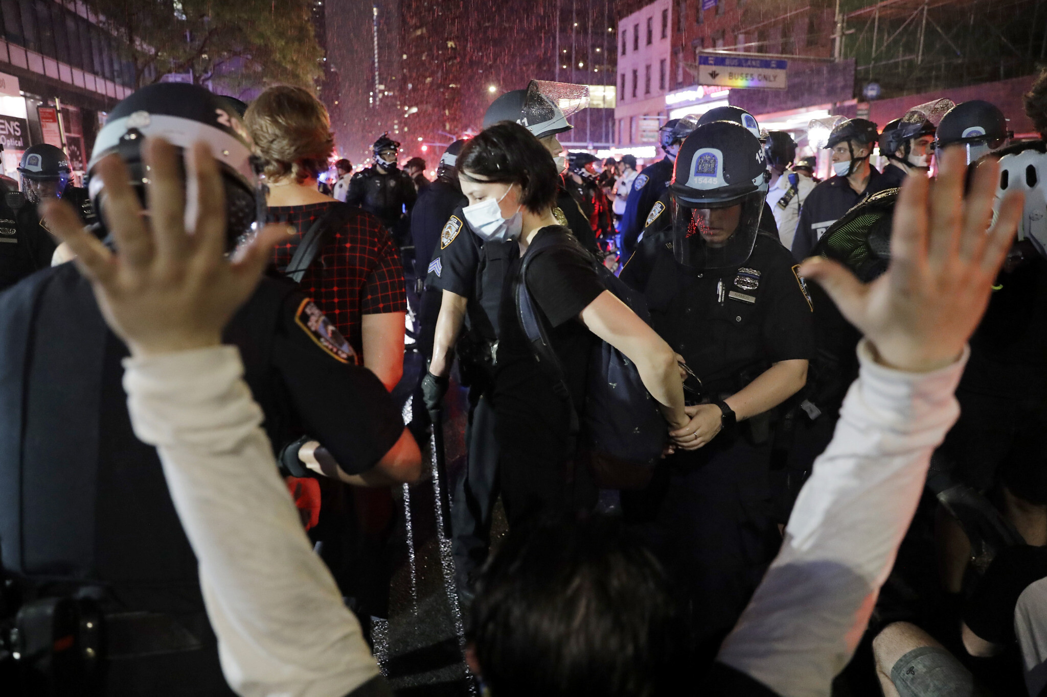 Curfews For Halloween 2020 Police crack down on George Floyd protests in New York, enforce