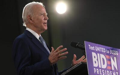 Democratic presidential candidate Joe Biden speaks during an event in Dover, Delaware, June 5, 2020. (AP Photo/Susan Walsh)