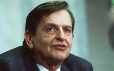 Swedish prime minister Olof, December 12, 1983. (Anders Holmstrom/TT via AP)
