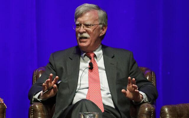 Former US national security adviser John Bolton speaks in Nashville, Tennessee, on February 19, 2020 (AP Photo/Mark Humphrey, File)