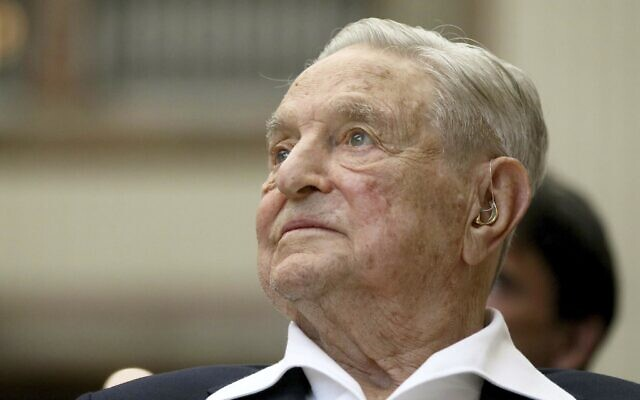 George Soros, founder and chairman of the Open Society Foundations, at the Joseph A. Schumpeter award ceremony in Vienna, Austria, June 21, 2019. (Ronald Zak/AP)